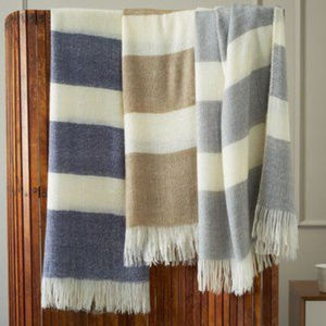 NEW HTF West Elm Stripe Favorite Throw Blanket